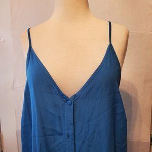 NWT  TopShop Blue Maxi Dress Sz 8